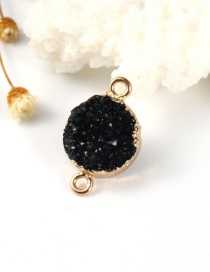 Fashion Black Round Resin Hanging Earrings