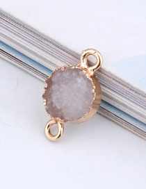 Fashion White Round Resin Double Hanging Earrings Bracelet