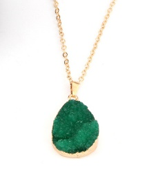 Fashion Green Imitation Natural Stone Necklace Earrings
