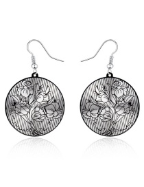 Fashion Silver Bouquet Aluminum Round Earrings Round
