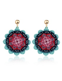Fashion Red Round Earring