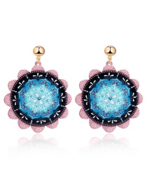 Fashion Blue Round Earring