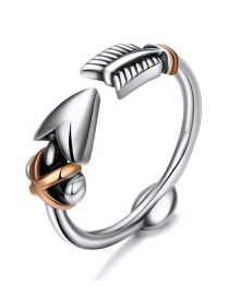 Fashion Silver 925 Silver Arrow Open Ring