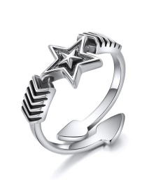 Fashion Silver 925 Silver Open Pentagram Ring