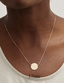Fashion Gold Stainless Steel Round Necklace