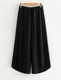 Fashion Black Split Cotton And Wide Leg Pants
