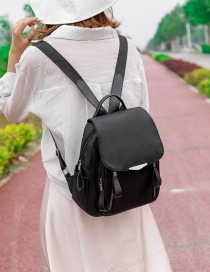 Fashion Black Oxford Bracket Backpack