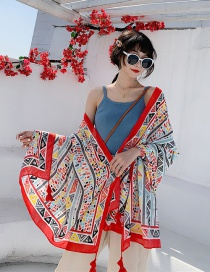 Fashion Romantic Love Sea Cotton And Linen Printed Scarves