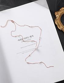 Fashion Silver Pearl Tassel Necklace
