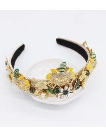Fashion Gold Geometric Bee Headband