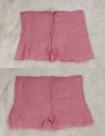 Fashion Pink Cotton Sliver Shorts