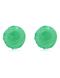 Fashion Green Colored Round Earrings