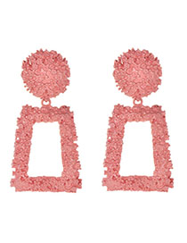 Fashion Pink Alloy Diamond Earrings