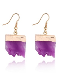 Fashion Purple Crescent-shaped Irregular Resin Earrings