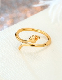 Fashion Rose Gold Resin Adjustable Ring