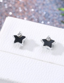 Fashion Silver Tower Magnet Earrings
