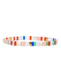 Fashion Color Rice Beads Woven Bracelet