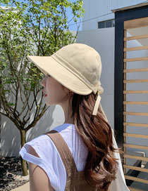 Fashion Beige Bow Cap