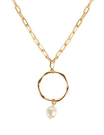 Fashion Gold Ring Pearl Necklace