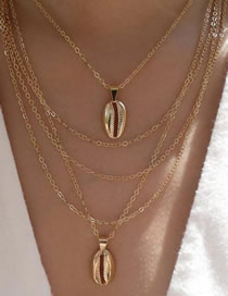 Fashion Gold Shell Multi-layer Necklace