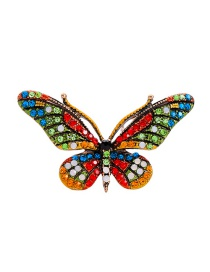 Fashion Color Hair Clip Flower Butterfly-studded Hair Clip