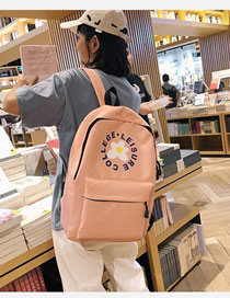 Fashion Pink Flower Backpack