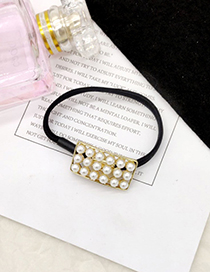 Fashion Rectangle Pearl Bow Hair Ring