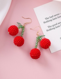 Fashion Red Cherry Mulberry Earrings