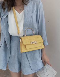 Fashion Yellow Lingge Single Shoulder Messenger Handbag
