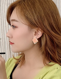 Fashion Gorgeous Orange Geometric Drop Earrings