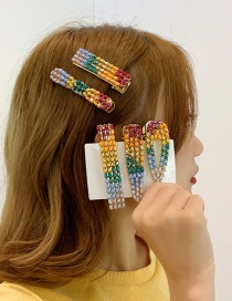 Fashion A Paragraph # Gradient (duck Mouth Clip) Gradient Rainbow Hair Clip