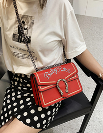 Fashion Red Small Crossbody Single Shoulder Chain Bag