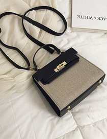Fashion Black Large Crossbody Handbag