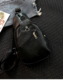 Fashion Black Shoulder Bag Crossbody Chest Bag