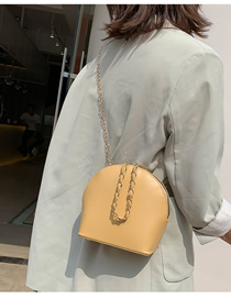 Fashion Yellow Shoulder Diagonal Chain Bag