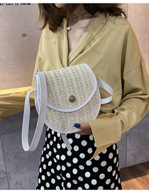 Fashion White Crossbody Straw Shoulder Bag