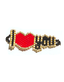 Fashion Red Love Letter Beaded Woven Accessories