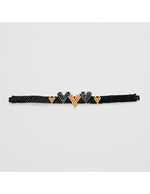 Fashion Black Love Beaded Woven Accessories