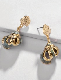 Fashion Gold Natural Gilt Edge Conch Alloy Earrings