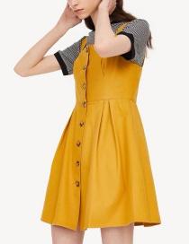 Fashion Orange Row Of Buckled Dresses