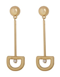 Fashion Gold Imitation Pearl Alloy Earrings Accessories