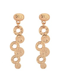 Fashion Gold Geometric Bubble-shaped Alloy Plating Earrings