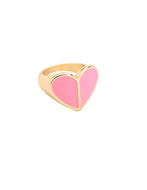 Fashion Pink Drip Heart Ring