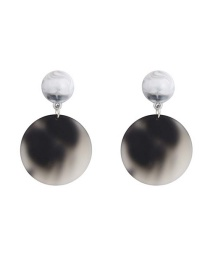 Fashion Black Acrylic Acetate Earrings