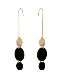 Fashion Gold Geometric Round Stitching Earrings Accessories