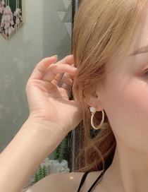Fashion Main Figure Earrings Circle Stud Earrings