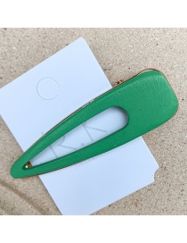 Fashion Hollow Drop Shape (fruit Green) Alloy Geometry Hair Clip