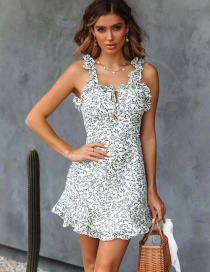 Fashion White Leaf Dress