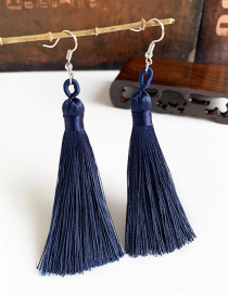 Fashion Navy Alloy Tassel Earrings