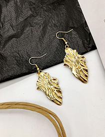 Fashion Gold Metal Irregular Sequin Earrings